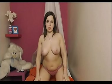 Pretty Milf plays on cam    Watch part 2 at..