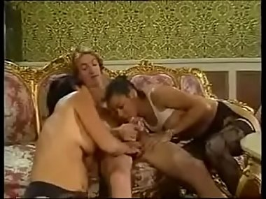MILF and big cock take care of young maid