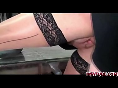 Hot Brunette Amateur Milf Sucks and Fucks