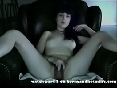 Gorgeous Hairy Teen Masturbates Again....watch..