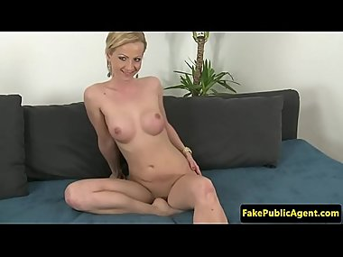 Lovely euro MILF facialized at sexaudition