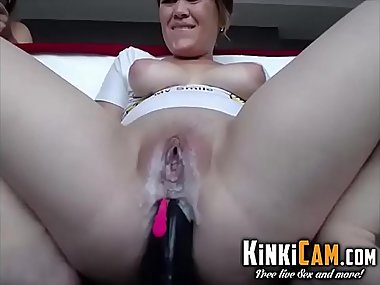 Latin MILF squirting on BBC - KinkiCam.com