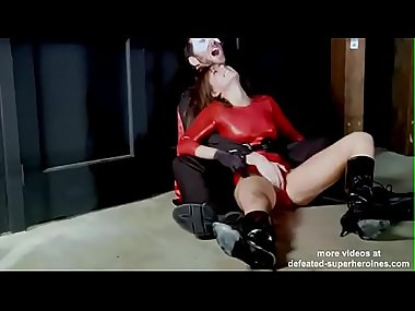 sexy crime fighter redgirl defeated (more videos..