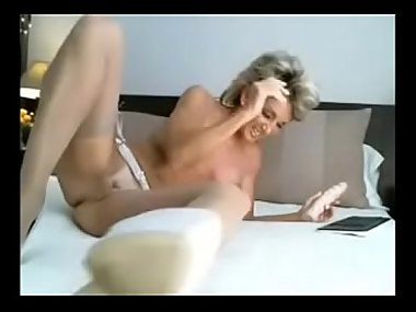 Awesome Hot Older Milf Cums with Dildo on Cam - HornyLiveCams.Com