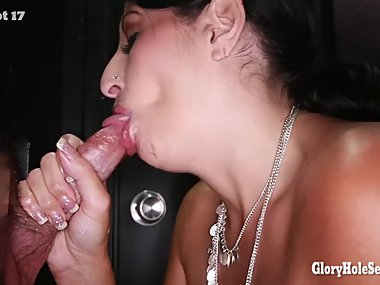 Hot persian milf sucking and swallowing