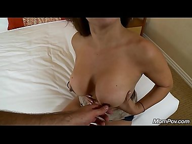Petite Amateur Latina Cougar Cums on Big Cock POV