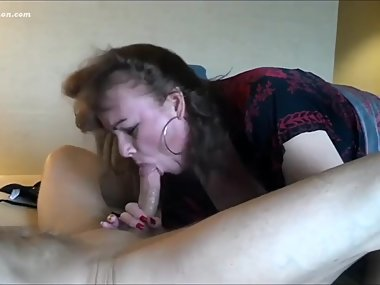 Mature Woman face fucked