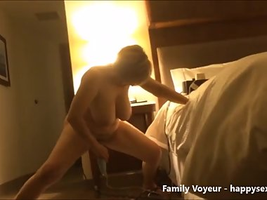 Stolen video of my slut mom masturbating and squirting