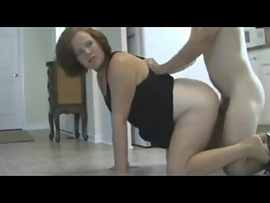 Son gets in trouble and has to creampie mom as..