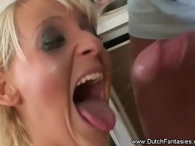 Dutch Blonde Blowjob Abuse deep roughly