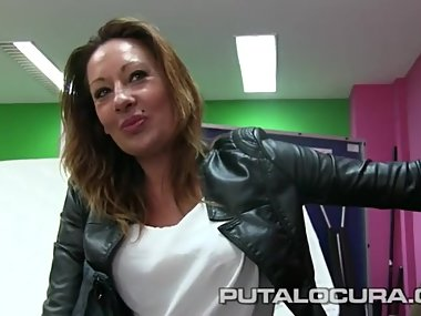 Eva, Spanish milf biker, fucking for money