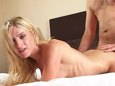 Tight Little Blonde Mom Rides Huge Cock and Gets..