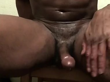 Oily BBC Stroking and Flexing