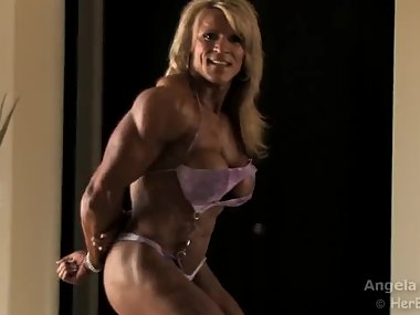 Angela super hot with muscles an tits