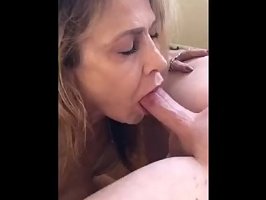 Sucking off two strangers cocks