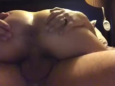 Thick wife rides hubbies fat cock