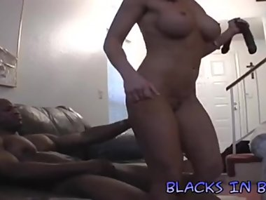 Becky gushes as she fucks a BBC in both holes