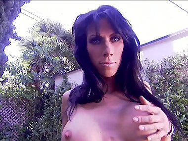 HOT BIG TIT MILF WIFE DANCES OUTSIDE FOR HUSBAND