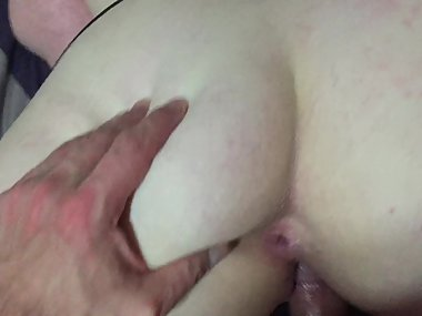 PAWGwife Takes Massive Creampie In Doggy - Huge Ass!