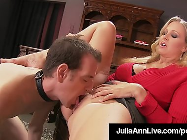 Mommy Dearest Julia Ann Punishes Her Boy Toy If..
