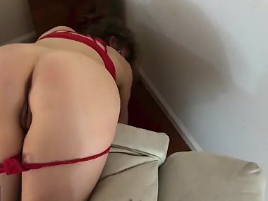 Stepmom stuck on the couch (cut)