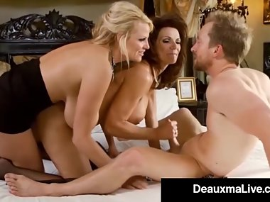 Sexy Milf Deauxma Blindfolds Kelly Madison &..