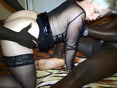 nice white milf with two bbc