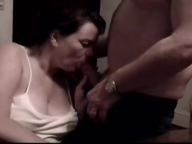 BDSM Dom Orders My MILF Wife To Suck Cock At Party