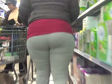 Curly Haired MILF in Grey Sweats 2