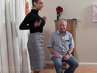 Stocking Girl Spanked Hard