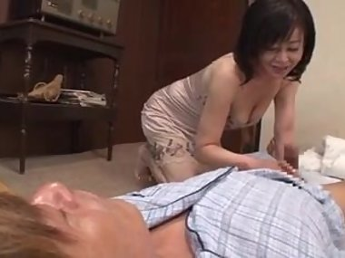 Dad's cock doesn't work, japanese mom looks for son's..