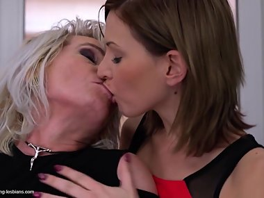 Posh mature mothers sharing lucky daughter