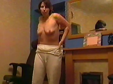 SILF wife holly pyjama strip
