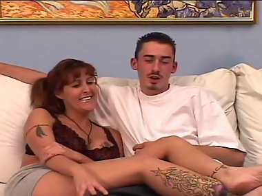 Milf tattoed gives interview and get fucked by..