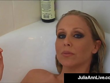Busty Blonde Milf Julia Ann Smokes Her Cigs..