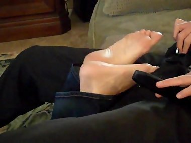 Mom Gives not Son a Footjob
