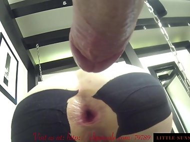 Big Gaping Ass Assfucked at the Swing with Pussy clampss