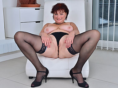 Euro gilf Danja strips off and dildo fucks herself