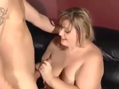 Blonde BBW gets cum in the ass