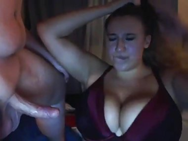 BBW milf deepthroat blowjob on webcam