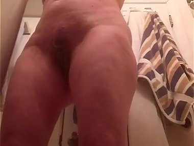 Saggy titled euro Milf undressing for shower