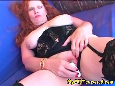 My MILF exposed Busty red head mature in..