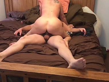 Hot ass riding my cock
