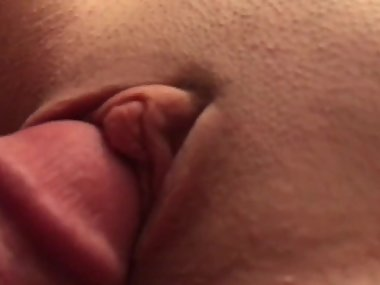 Long video - jerking cum on perfect MILF PUSSY