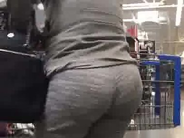 Big booty Spanish milf with fat ass at the store