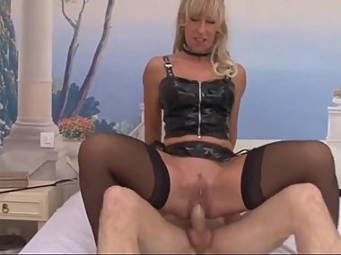 Hot fit French MILF takes on Young dude