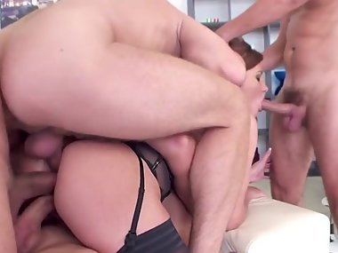 Lingerie Milf Double Anal Bang