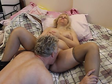 Big Tit Russian MILF Getting Pussy Sucked by British